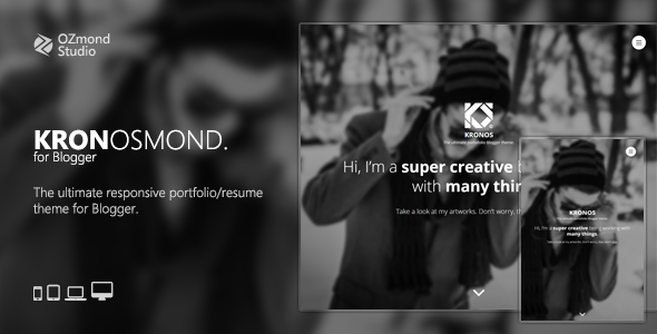 Kronosmond: The Ultimate Responsive Portofolio Theme for Blogger            TFx