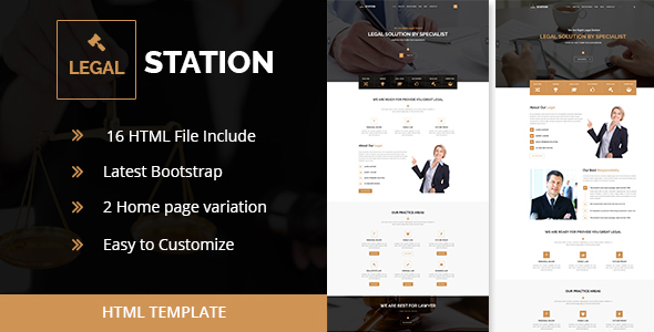 LEGAL STATION- Responsive HTML5 Legal Solution Template (New)             TFx