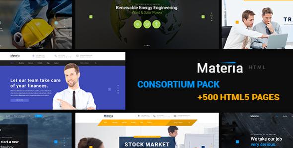 Materia - Consortium Multiuse Pack HTML5 & CSS3 Template            TFx