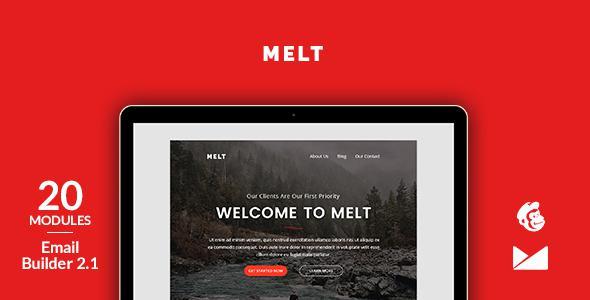 Melt Email Template + Online Emailbuilder 2.1            TFx