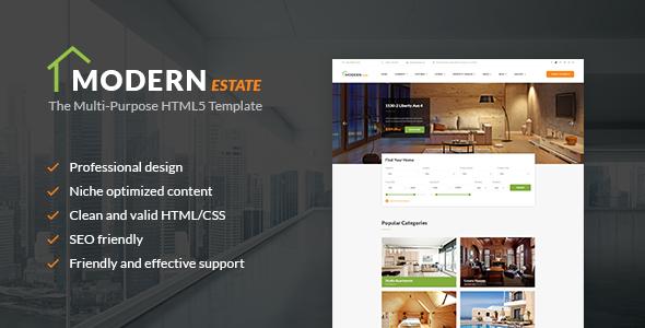 Modern Estate - Premium Website Template             TFx