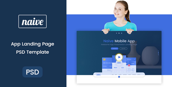 Naive - App Landing PSD Template            TFx