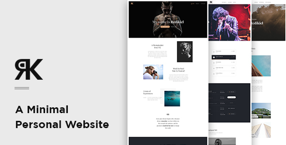 REDIKIEL – Onepage Minimal Personal Website PSD Template            TFx