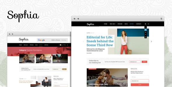 Sophia - Creative Blog WordPress Theme            TFx