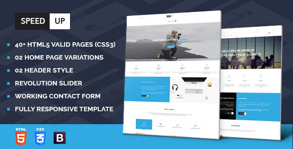 Speed Up - Business Corporate and Portfolio Html Template            TFx