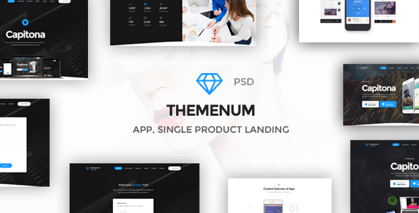 Themenum - Multi-Purpose App Showcase Responsive PSD Template            TFx