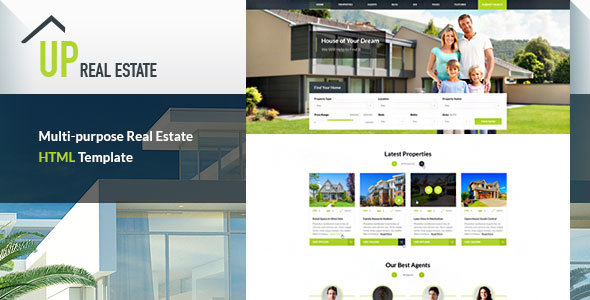 UP Real Estate HTML Template - Unlimited Potential for your Real Estate Business            TFx