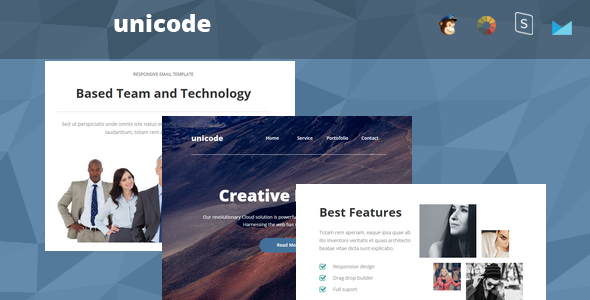 Unicode - Responsive Email + StampReady Builder            TFx