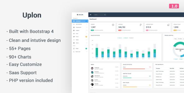 Uplon - Responsive Bootstrap 4 Web App Kit            TFx