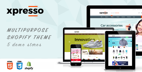 Xpresso Responsive Shopify Theme - Megashop, Sport, Shoes, Jewelry, Toy Online Store            TFx