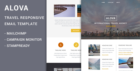 Alova - Travel Agency Responsive Email Template            TFx