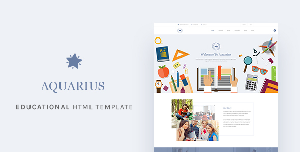 Aquarius - Educational University Drupal Template            TFx