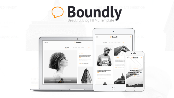 Boundly - Beautiful Blog HTML Template            TFx
