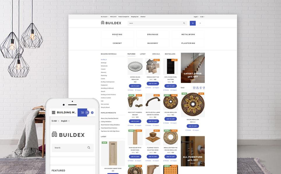 Building Materials Responsive OpenCart Template TMT