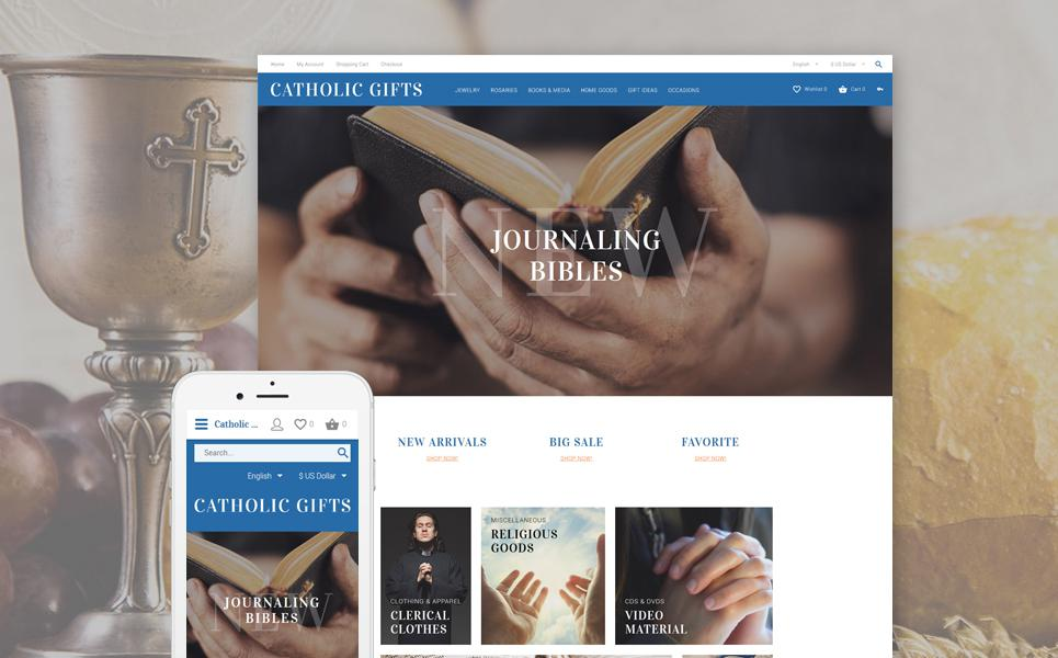 Catholic Gifts OpenCart Template TMT