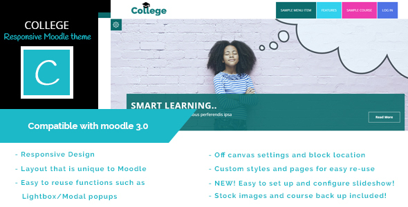 College - Educational Moodle Theme            TFx
