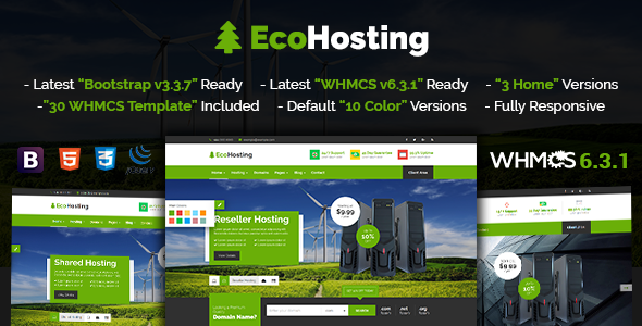 EcoHosting | Responsive HTML5 Hosting and WHMCS Template            TFx