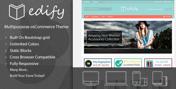 Edify – Responsive osCommerce Theme            TFx