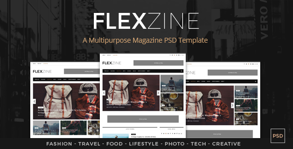 FlexZine -  Magazine PSD Template            TFx