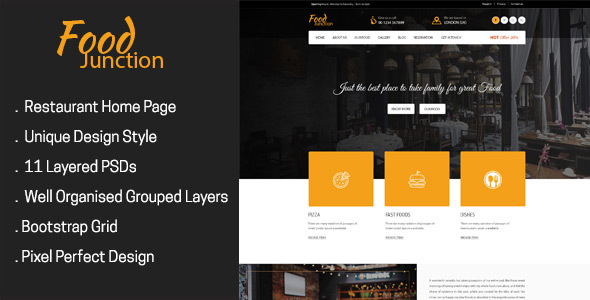 FoodJunction - Restaurant PSD Template            TFx
