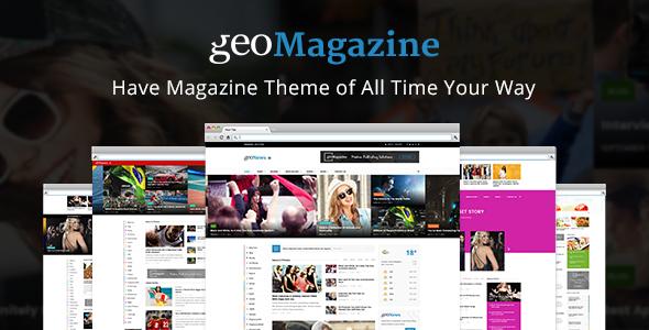 Geo Magazine | Modern Responsive Newspaper  | News Portal WordPress Theme            TFx