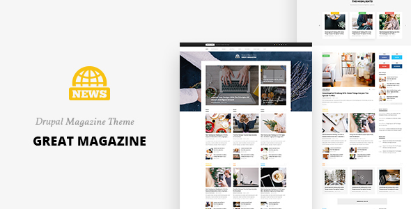 Great Magazine - Responsive Magazine News Drupal 8 Theme            TFx