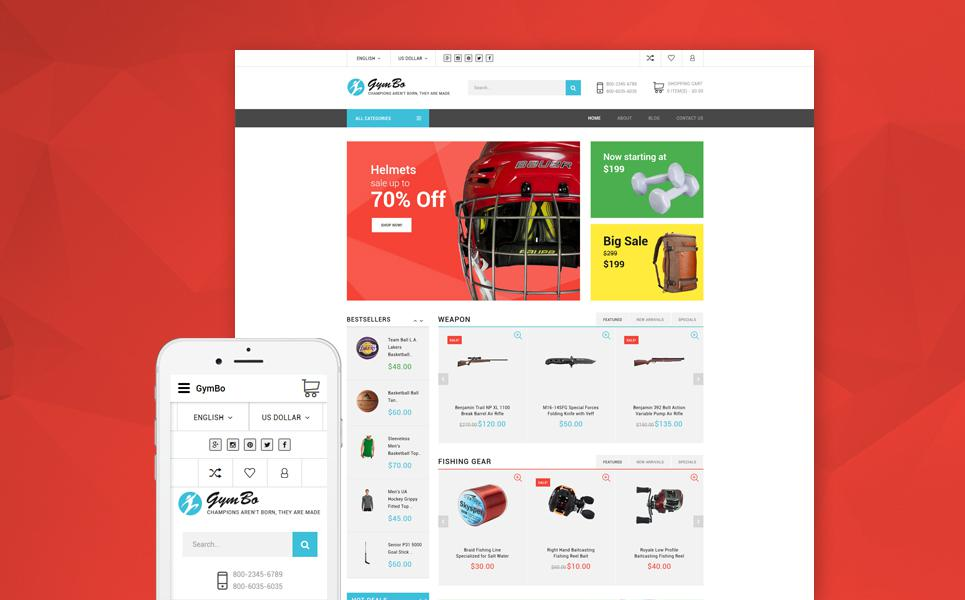 GymBo - Multipurpose Responsive OpenCart Template TMT