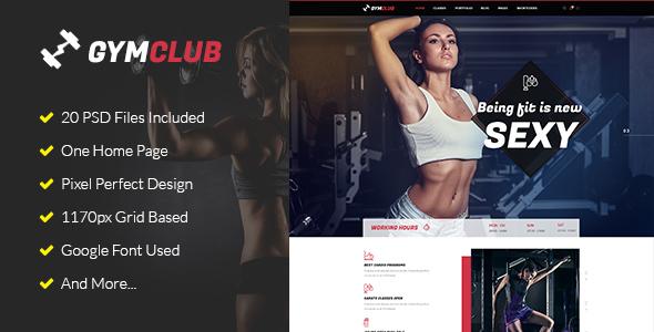 GymClub - Gym & Fitness PSD Template            TFx