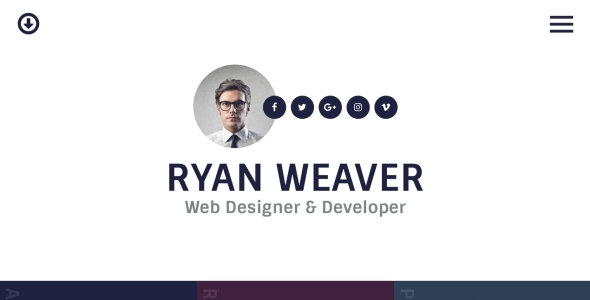 Insurgent - Personal Vcard Resume HTML Template            TFx