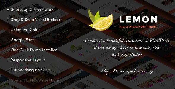 Lemon | Spa & Beauty Responsive Multi-Purpose WordPress Theme            TFx