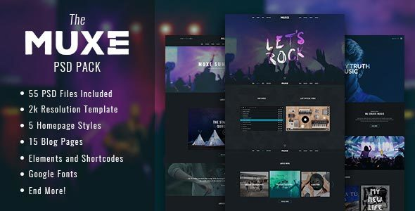 MUXE – Media oriented Musical PSD Template            TFx
