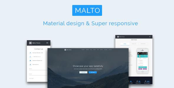 Malto - Material design App Showcase Template            TFx