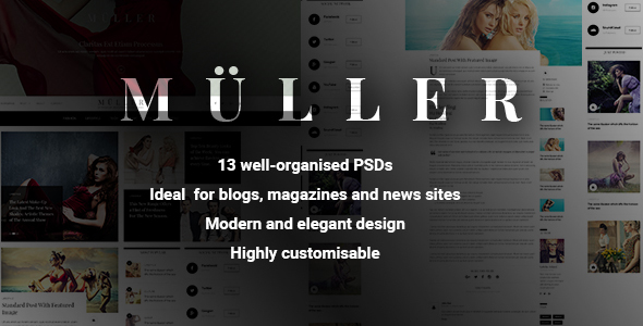 Muller - Blog, Magazine and News PSD Template            TFx