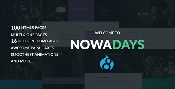 NowaDays - Multipurpose One/Multipage Creative Agency Drupal 8 Theme            TFx