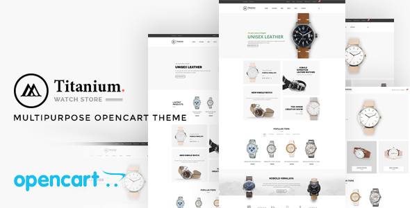 Pav Titanium - Advanced Opencart Theme for Watch & Jewelry            TFx