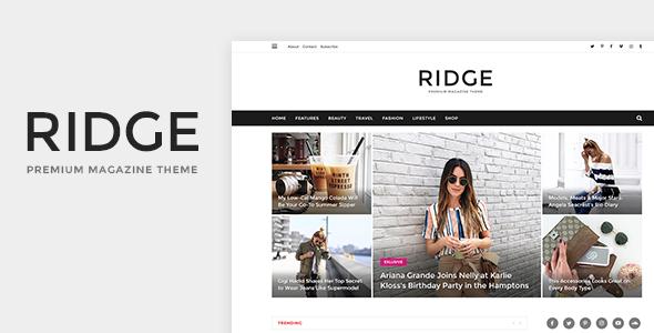 Ridge - Magazine PSD Template            TFx