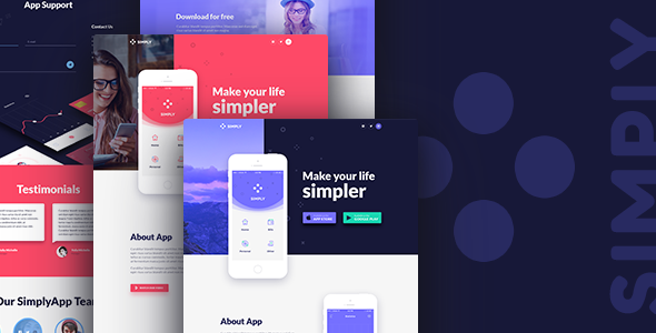 Simply - Onepage App Template            TFx