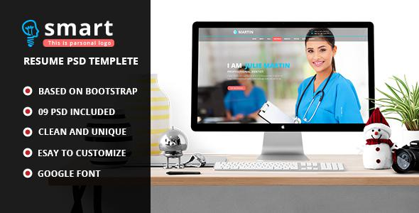 Smart - Personal Profile PSD Template             TFx