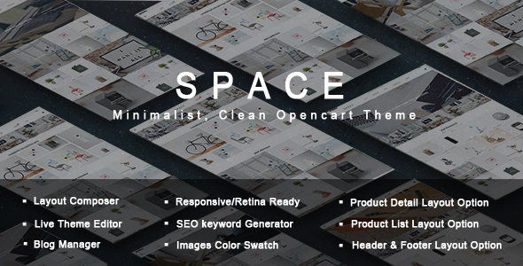 Space - Minimalist, Clean Opencart Theme            TFx
