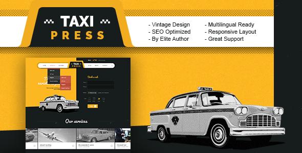 TaxiPress - Taxi Company Vintage WordPress Theme            TFx