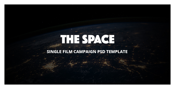 The Space - Single Film Campaign PSD Template            TFx