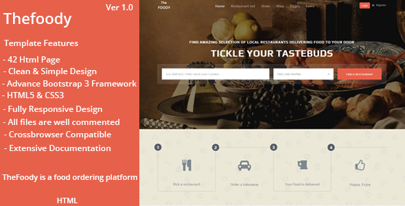 Thefoody - Multipurpose Bootstrap Template            TFx