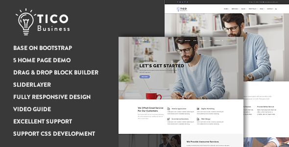 Tico - Responsive Business Drupal 8 Theme            TFx