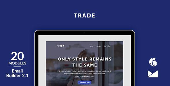Trade Email Template + Online Emailbuilder 2.1            TFx