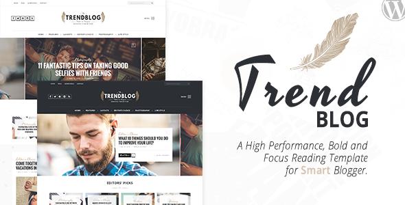 TrendBlog - Creative, Vintage & Elegant Blog WordPress Theme            TFx