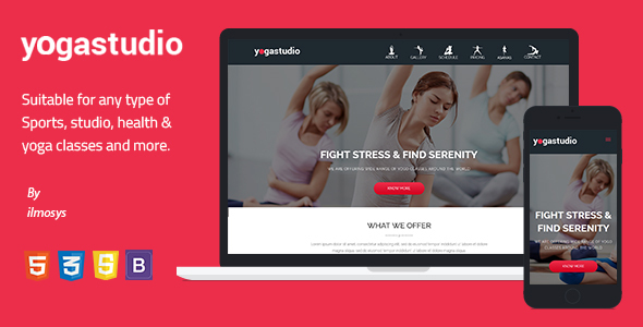 Yoga studio - Landing Page Template            TFx