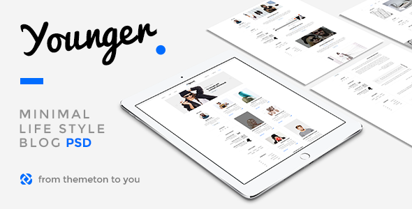 Young Blogger - Simple Clean PSD Template            TFx