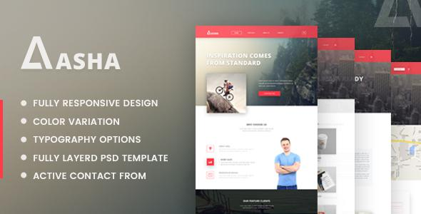 Aasha - Agency Landing Page Template            TFx