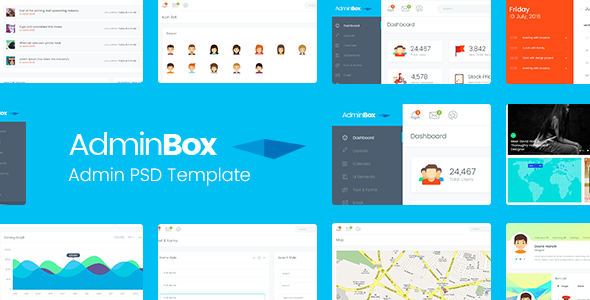 Adminbox Admin PSD Template            TFx