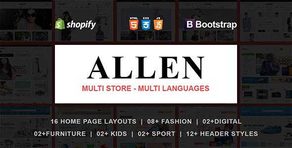 Allen - Responsive Shopify Theme            TFx